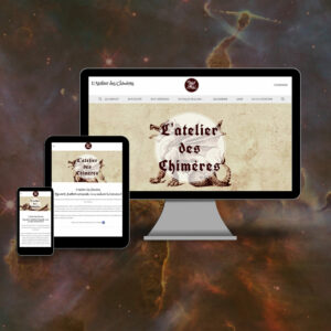 site en responsive design - l'Atelier des Chimères