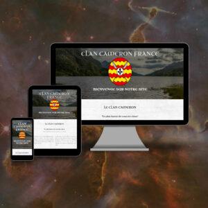 site en responsive design - Clan Cameron France