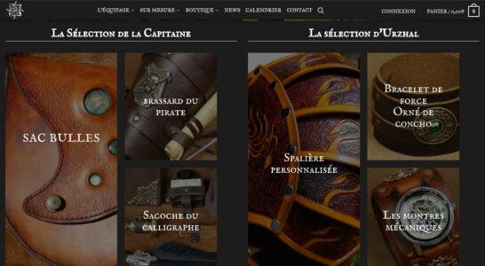 Le site de Time Warp Shop - des cadres dynamique de sélection de produits dans la boutique et les portfolios