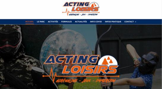 Le site internet d'Acting Loisirs