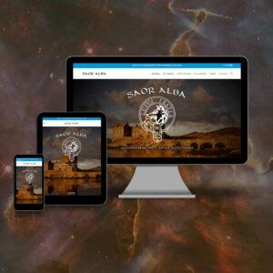 site en responsive design - Saor Alba