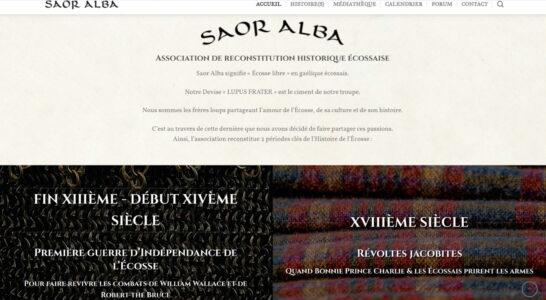 Le site de l'association Saor Alba - une présentation claire