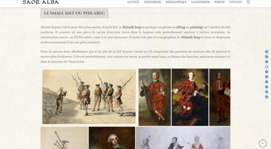 Le site de l'association Saor Alba - des articles à portée historique